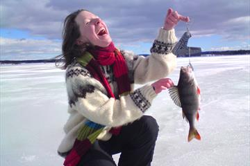 Ice fishing near Quality Hotel Strand
