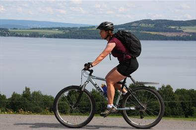 Biking routes in the Gjøvik-region