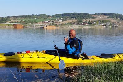 Kayaking on lake Mjøsa - Rental, courses and tours